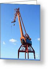 Shipping Industry Crane Greeting Card