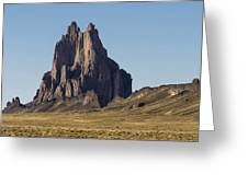Shiprock Panorama - North West New Mexico Greeting Card