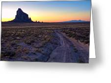 Shiprock Sunset Greeting Card