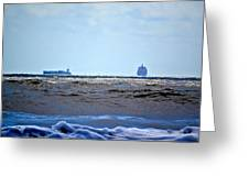 Ships At Sea Greeting Card