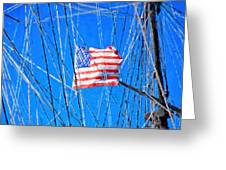 Ships Flag Greeting Card