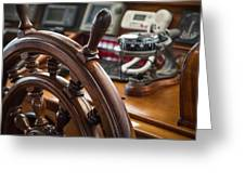 Ships Wheel Greeting Card by Dale Kincaid