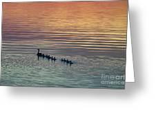 Shipshewana Lake Evening Greeting Card