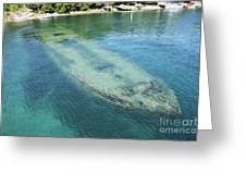 Shipwreck In Big Tub Harbour Greeting Card