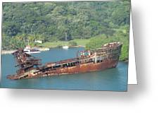 Shipwreck Of Roatan Honduras Greeting Card