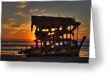 Shipwreck Sunburst Greeting Card
