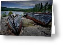 Shipwrecks At Neys Provincial Park No.3 Greeting Card