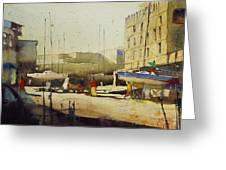 Shipyard At Keroman Greeting Card