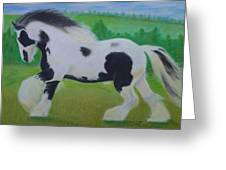 Shire Horse Greeting Card by David Hawkes
