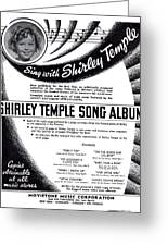 Shirley Temple Song Album Greeting Card