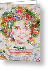 Shirley Temple - Watercolor Portrait.1 Greeting Card