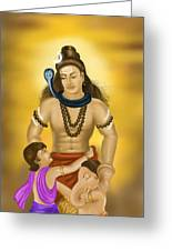 Shiva Family.  Greeting Card
