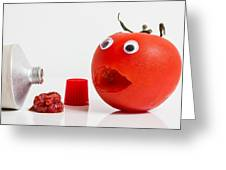 Shocked Tomato. Greeting Card