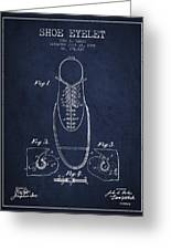 Shoe Eyelet Patent From 1905 - Navy Blue Greeting Card
