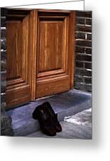 Shoes At Door Greeting Card