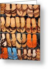 Shoes Shoes Everywhere Playa Del Carmen Mexico Greeting Card