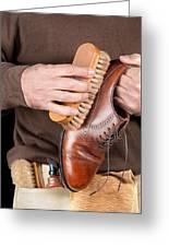 Shoeshiner Greeting Card