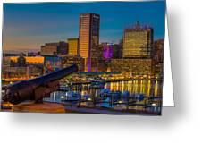 Shooting Purple In Baltimore Greeting Card
