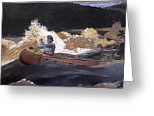 Shooting The Rapids Saguenay River Greeting Card