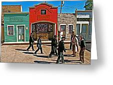 Shootout At The Ok Corral In Tombstone-arizona Greeting Card