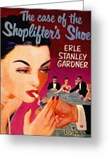 Shoplifter's Shoe. Vintage Pulp Fiction Paperback Greeting Card