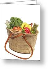 Shopping For Orrganic Fruit And Vegetables  Greeting Card