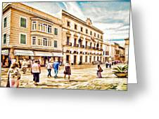 Shopping In Menorca Greeting Card