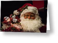 Shopping Mall Santa Greeting Card