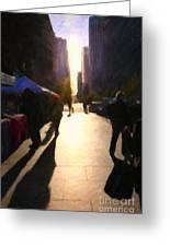 Shopping Stands Along Market Street At San Francisco's Embarcadero - 5d20842 Greeting Card