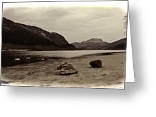 Shore Of A Loch In The Scottish Highlands Greeting Card