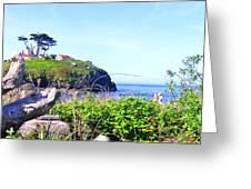 Shore Walking Greeting Card