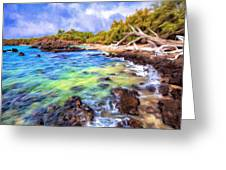 Shoreline At Puako Greeting Card
