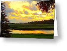 Shoreline Sunset 3 Greeting Card