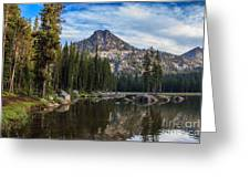 Shoreline View Of Anthony Lake Greeting Card