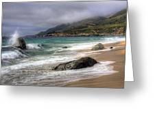 Shores Of Big Sur Greeting Card by Shawn Everhart