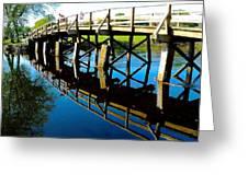 North Bridge On The Concord Greeting Card