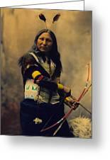 Shout At Oglala Sioux  Greeting Card