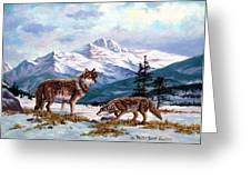 Show  Of Respect Greeting Card by W  Scott Fenton