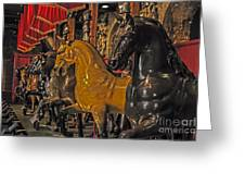 Showcase Of Royal Horses Greeting Card