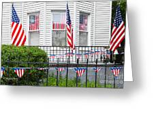 Showing The Flag Usa Greeting Card