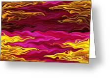 Showpiece Waves Greeting Card