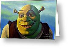 Shrek Greeting Card by Paul Meijering