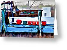 Shrimp Boat Buckets Greeting Card