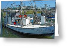 Shrimp Boat - Southern Catch Greeting Card