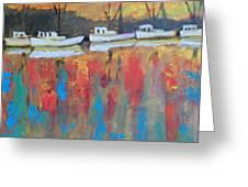 Shrimp Boats At Dawn Greeting Card