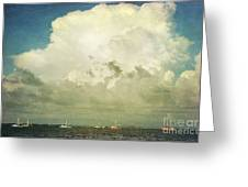 Shrimp Boats Headed Out Greeting Card
