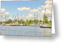 Shrimp Boats In Georgetown Sc Greeting Card
