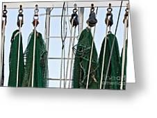 Shrimp Nets Greeting Card