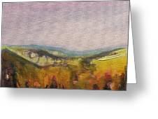 Shropshire Hills 4 Greeting Card