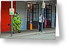 Shrubman On The Move Greeting Card